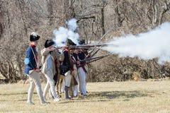Reenactors войны за независимость в США Стоковая Фотография RF