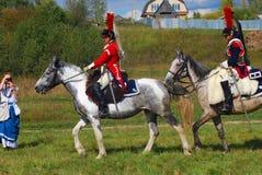 Reenactors cuirassiers from Napoleon regiment Stock Photography