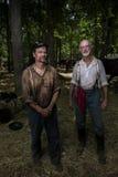 Reenactors de la guerra civil Foto de archivo libre de regalías