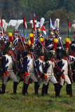 Reenactors dressed as Napoleonic war soldiers Stock Photos