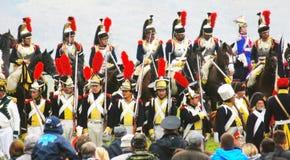 Reenactors groups parade Royalty Free Stock Photo