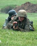 Reenactors ww2 allemand photos stock