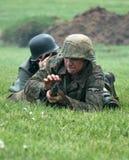 Reenactors ww2 tedesco Fotografie Stock
