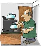 Reenchimento do café ilustração royalty free