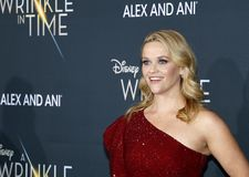 Reese Witherspoon. At the Los Angeles premiere of `A Wrinkle In Time` held at the El Capitan Theater in Hollywood, USA on February 26, 2018 Royalty Free Stock Photos