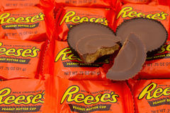 Reeses Peanut Butter Cup Candy Background. SC, USA Oct 2016 Editorial image of Reeses Peanut Butter Cup Candy Background. A favorite snack in the USA as well as royalty free stock photos