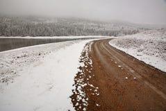 Reesor Lake in winter. Alberta Canada Royalty Free Stock Photo