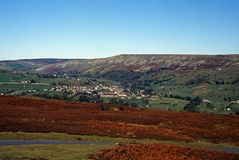 Reeth, Swaledale, Yorkshire, Angleterre. Image libre de droits