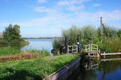 Reeuwijkse Plassen nature area, the Netherlands. Reeuwijkse Plassen nature area, part of the Green Heart region in the Netherlands Royalty Free Stock Image