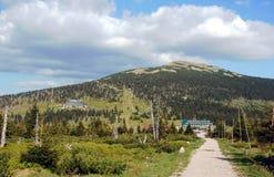 Refúgios em montanhas de Karkonosze fotos de stock royalty free