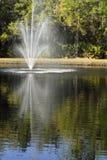 refecting的喷泉 免版税库存照片