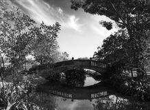 Refection of bridge in park Royalty Free Stock Photography