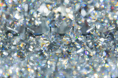 Refection caustic of diamond crystal jewel light reflect Stock Image