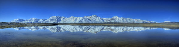 Refection of Eastern Sierras Stock Image