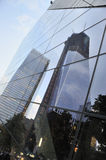 Refection of Freedom Tower - World Trade Center Royalty Free Stock Photos