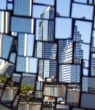 Refection of the Jacksonville, Florida Skyline Stock Photos