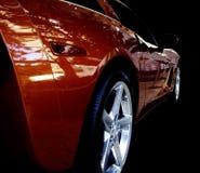 Refections em um carro da mostra. fotos de stock royalty free
