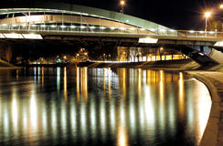 Refections Neris реки на ноче Стоковые Изображения