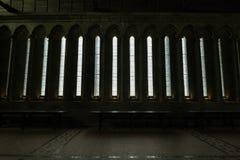 Refectorio de la iglesia-abadía de Mont-Santo-Miguel Foto de archivo libre de regalías