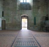 Refectorio de la iglesia-abadía de Mont-Santo-Miguel Foto de archivo