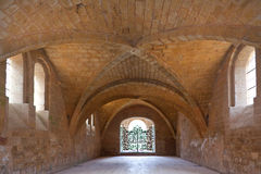 Refectory of the cistercian abbey of Fontfroide  Stock Photos