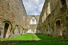 The Refectory at Easby Abbey stock photos