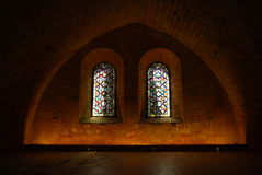 Refectory, Fontfroide abbey, France Royalty Free Stock Images