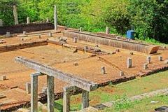 Refectory Mihintale Anuradhapura, παγκόσμια κληρονομιά της ΟΥΝΕΣΚΟ της Σρι Λάνκα Στοκ Εικόνα