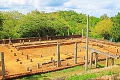 Refectory Mihintale Anuradhapura, παγκόσμια κληρονομιά της ΟΥΝΕΣΚΟ της Σρι Λάνκα Στοκ φωτογραφίες με δικαίωμα ελεύθερης χρήσης