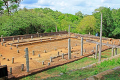 Refectory Mihintale Anuradhapura, παγκόσμια κληρονομιά της ΟΥΝΕΣΚΟ της Σρι Λάνκα Στοκ Φωτογραφία