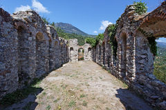 Refectory in Mystras Royalty Free Stock Images