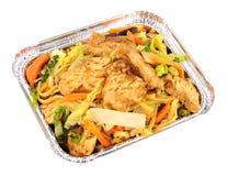 Refeição chinesa de Chow Mein Take Away da galinha Fotos de Stock Royalty Free