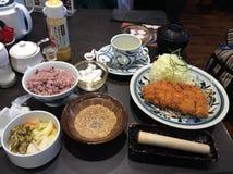 Refeição da costoleta da carne de porco (tonkatsu) Imagens de Stock