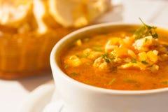 Refeição da sopa do camarão imagem de stock royalty free
