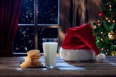 Refeição de Santa Fotos de Stock