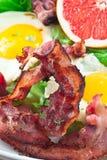 Refeição do bacon fotografia de stock royalty free