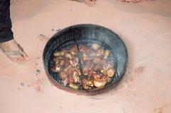 Refeição do beduíno de Zarb fotografia de stock royalty free
