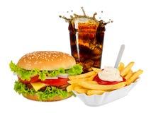 Refeição do fast food Imagens de Stock