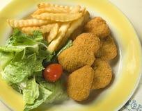 Refeição do fast food em casa Foto de Stock Royalty Free