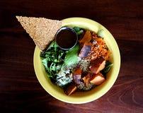 Refeição do gourmet do vegetariano fotografia de stock royalty free