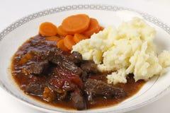 Refeição do guisado da carne e do tomate Imagem de Stock Royalty Free