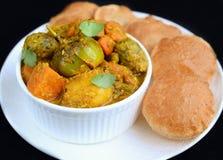 Refeição do indiano do prato principal do Gujarati Foto de Stock Royalty Free