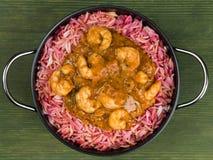 Refeição do rei Prawn Masala Curry fotografia de stock