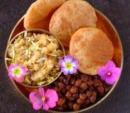 Refeição indiana do prasad do festival para udyapan fotografia de stock royalty free