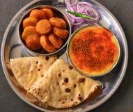 Refeição indiana do veg Imagem de Stock Royalty Free