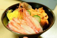 Refeição japonesa do marisco Imagem de Stock