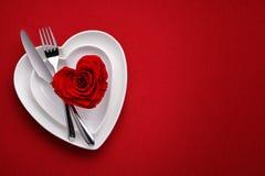 Refeição no dia de Valentim foto de stock royalty free