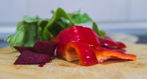 Refeição orgânica saudável Vegetais preparados cozinhando imagem de stock
