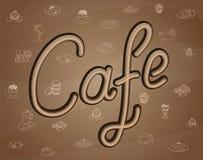 Refeições do café ilustração stock