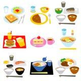 Refeições típicas em Japão ilustração do vetor